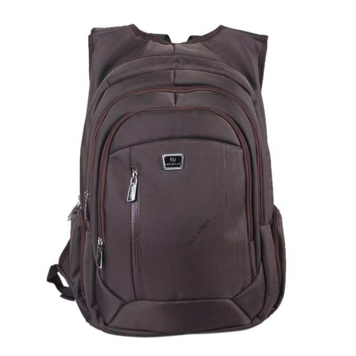 Polyester Backpack For Men - Chocolate