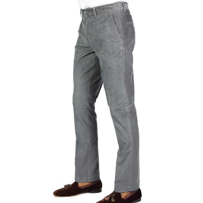 Light Grey Cord Formal Pant For Men