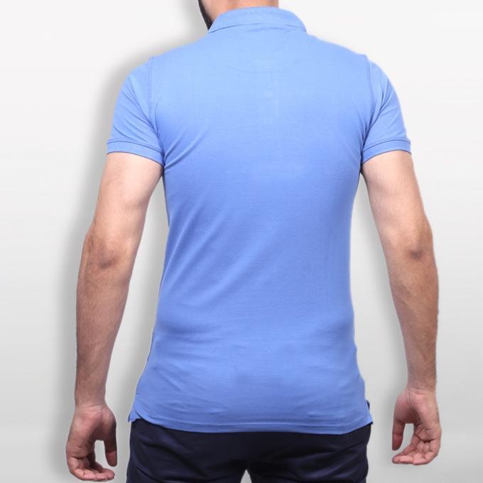 Royal Blue Cotton Polo For Men
