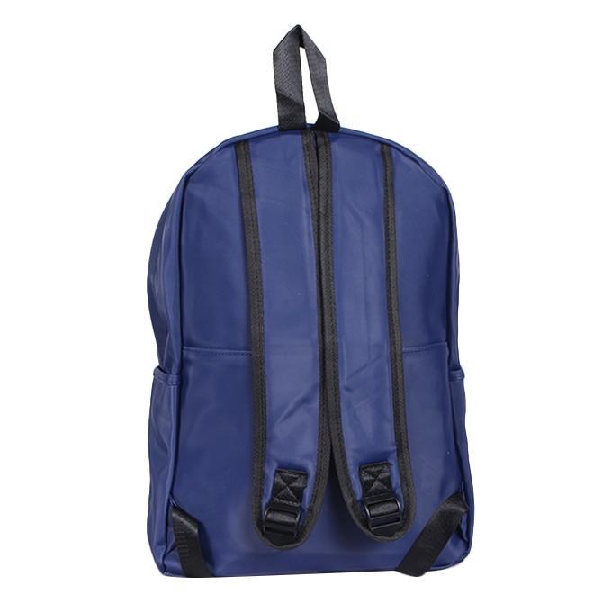 Blue Polyester Backpack For Men
