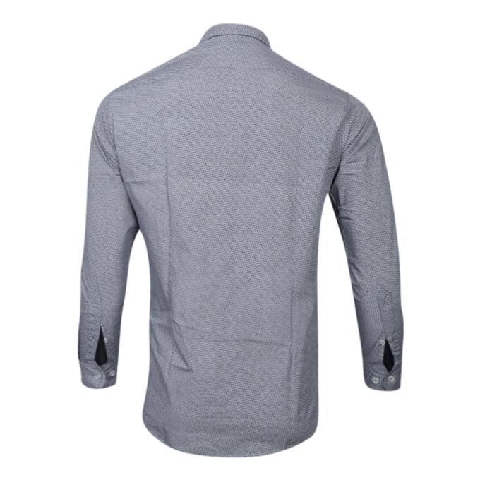 Printed Ash Cotton Long Sleeve Casual Shirt For Men