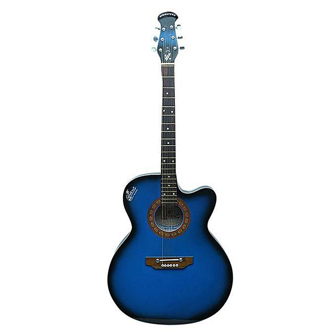 Black and Blue Acoustic Guitar