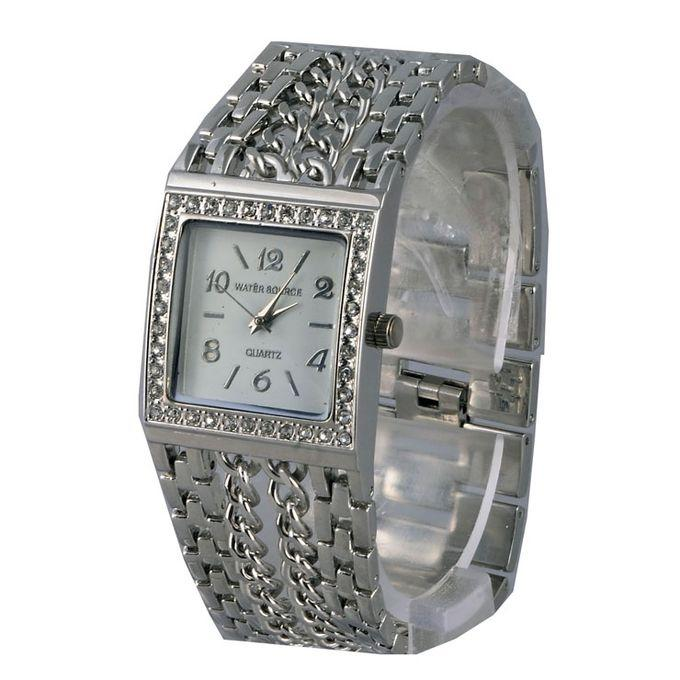Stainless Steel Analog Watch for Women - Sliver