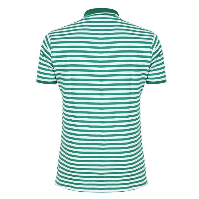 Light Green Cotton Polo For Men