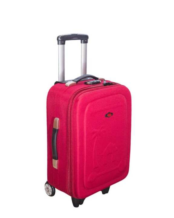 "24"" Crimson Parachute Fabric Trolley Bag"