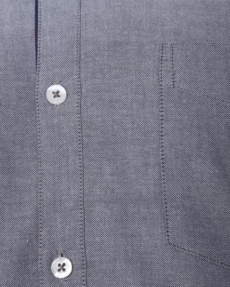 Cotton Formal Shirt - Slate Gray
