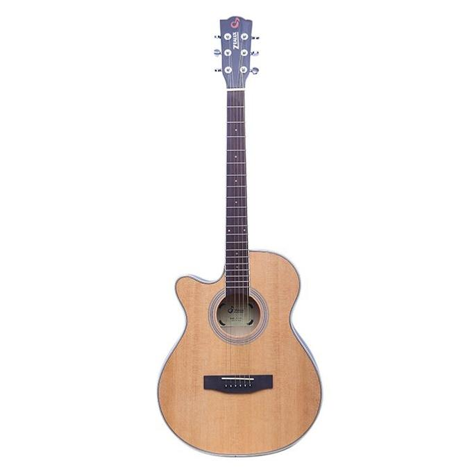 Light Brown Left Handed Pure Acoustic Guitar