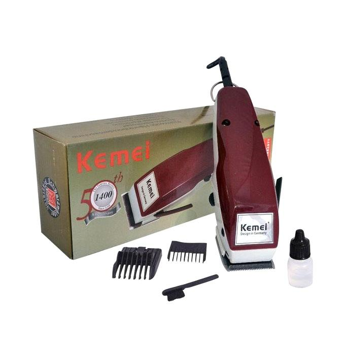 Kemei KM-1400 Professional Wired Electric Hair Clipper - Red