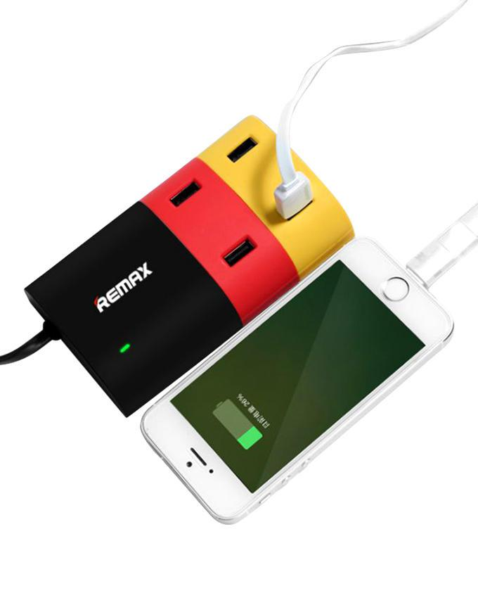 USB Hub Multi-Charger For Smartphones and Tablets - Multicolor