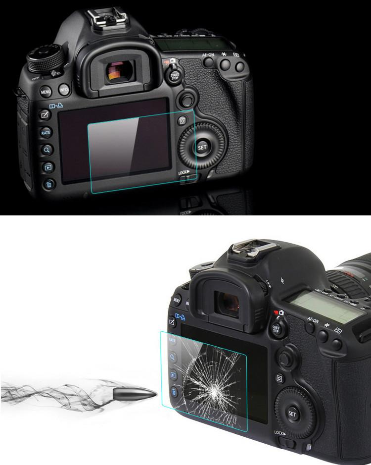 LCD Premium Tempered Glass Film Screen Protector For Canon 70D