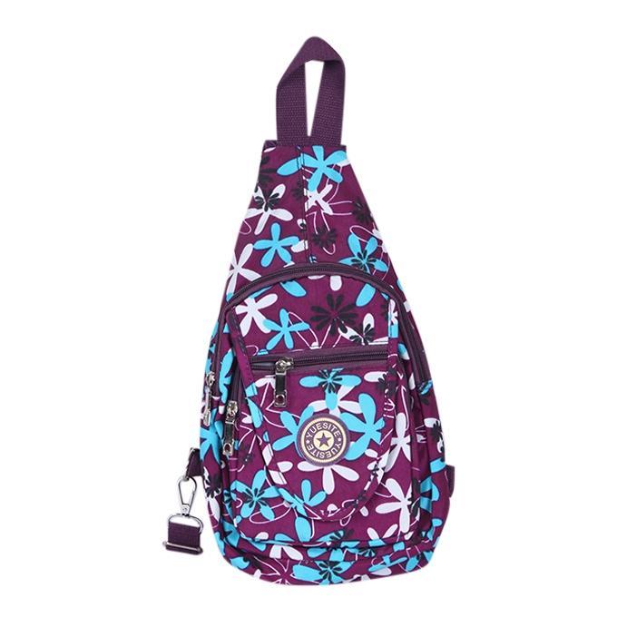 Purple Polyester Backpack For Men