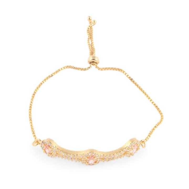 Golden Diamond Cut Bracelet For Women
