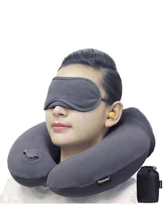 3 In 1 Travel Comfort Neck Pillow - Ash