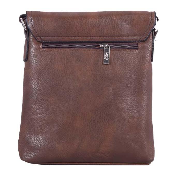 Leather Messenger Bag For Men - Brown