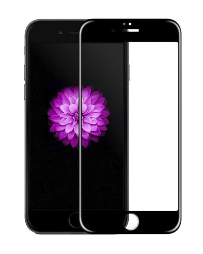 3D Full Cover Tempered Glass For iPhone 7 - Black