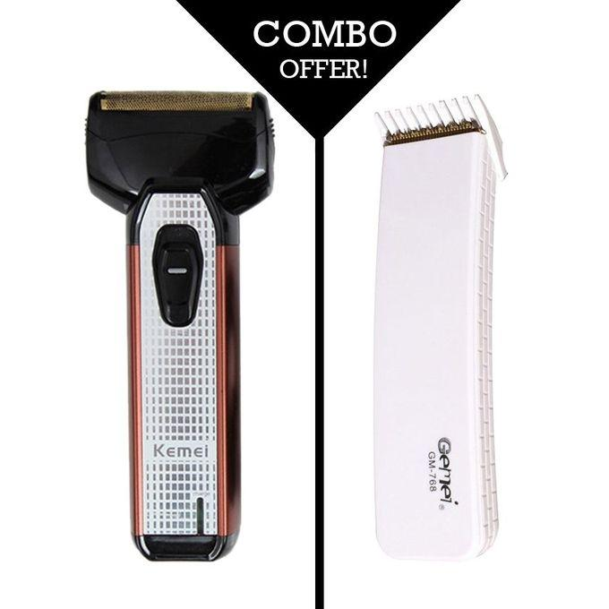 Combo Pack GM 768 Rechargeable Trimmer and KM 822 Rechargeable Shaver