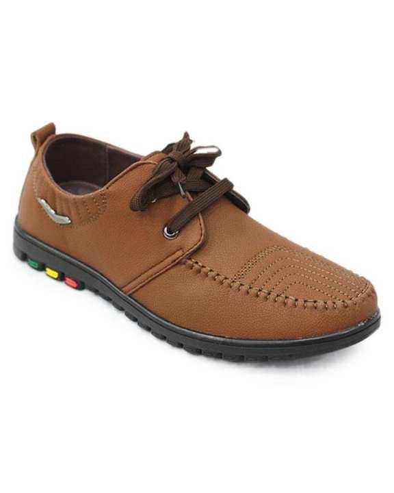 Men's PU Boat Shoe - Brown