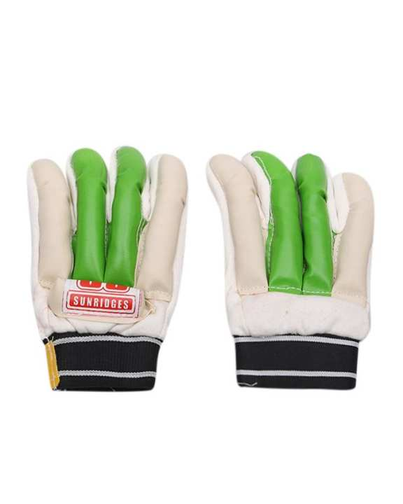 Hand Gloves - Green and Off White