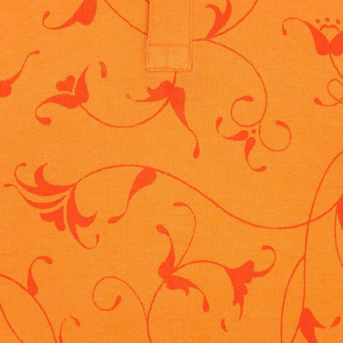 Orange Cotton Polo For Men