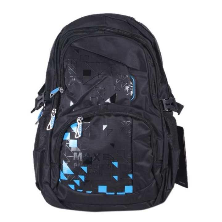 Polyester Backpack For Boys - Black