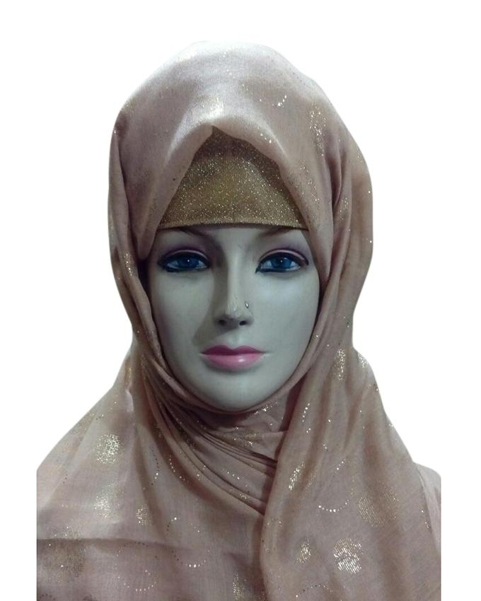 Beige Cotton Hijab For Women