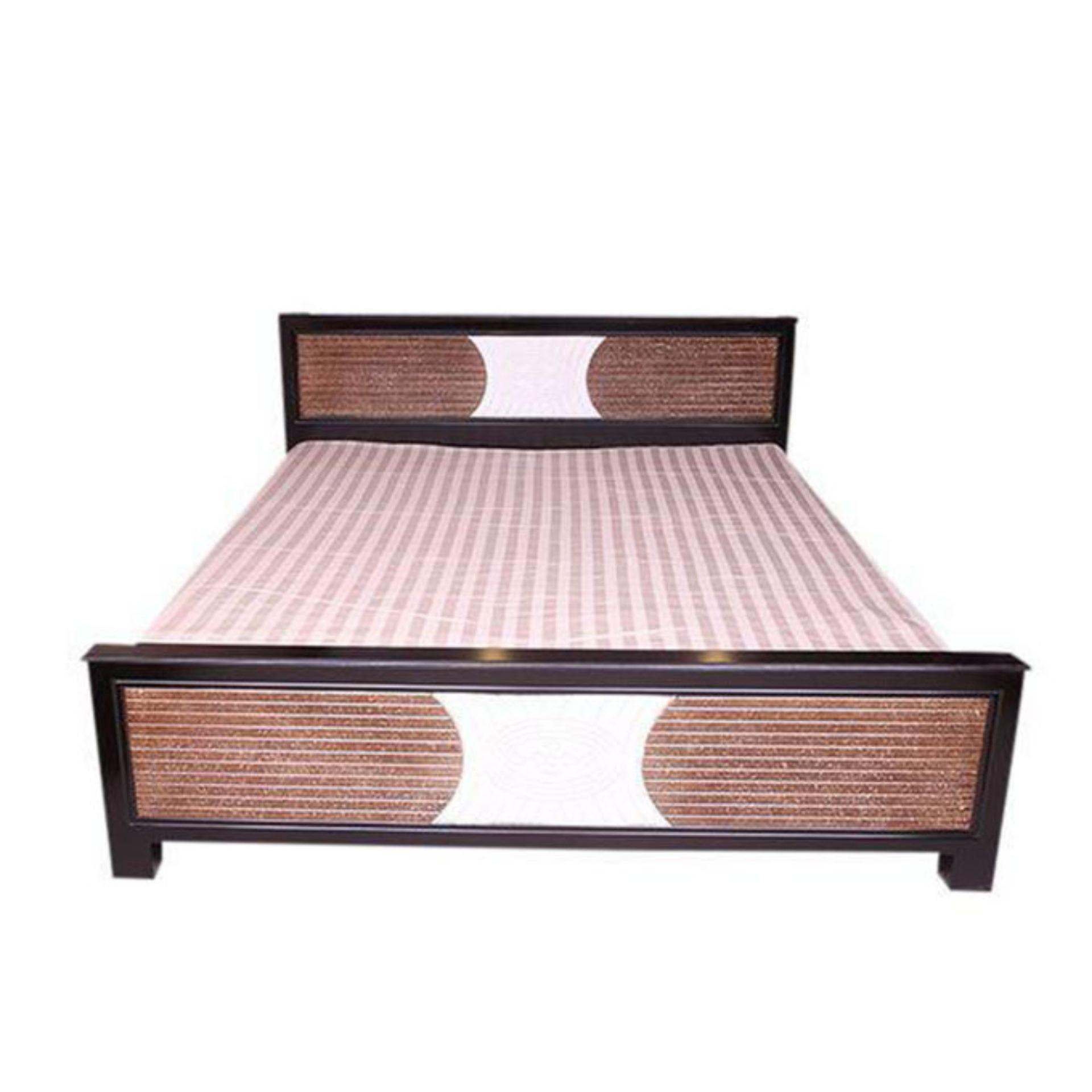 Malaysian Processed Wood Bed - Chocolate and Brown