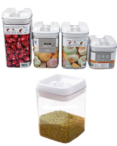 Easy Lock Food Container - 4 Pcs - White