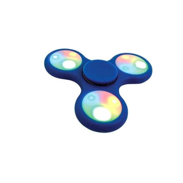 Blue ABS Raisin Fidget Spinner - LED-BLU305