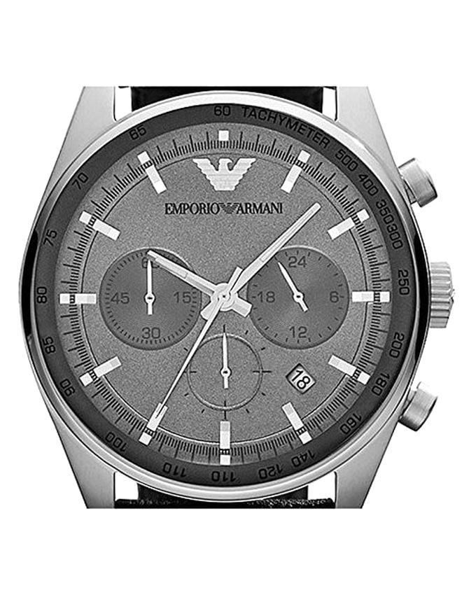 AR5994 Stainless Steel Chronograph Watch for Men - Grey
