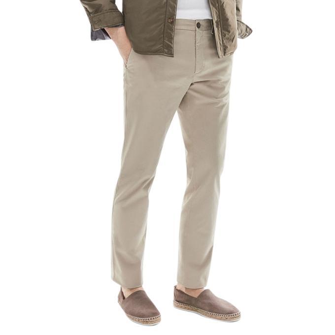 Wheat Twill Semi Narrow Gabardine Pant for Men