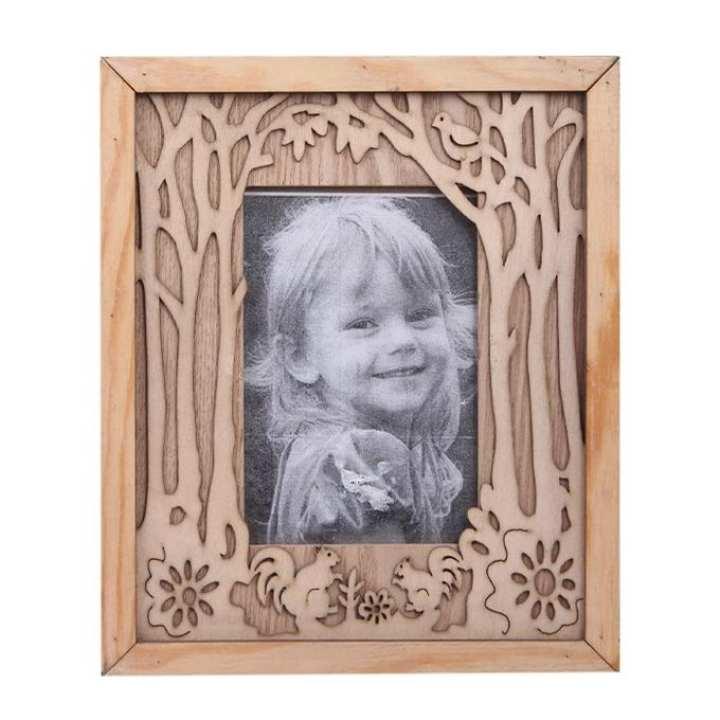 Wooden Photo Frame - Salmon
