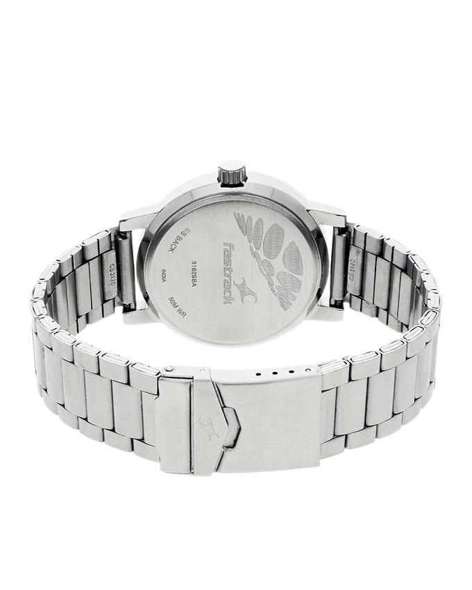 3162SM01 - Stainless Steel Analog Watch For Men - Silver