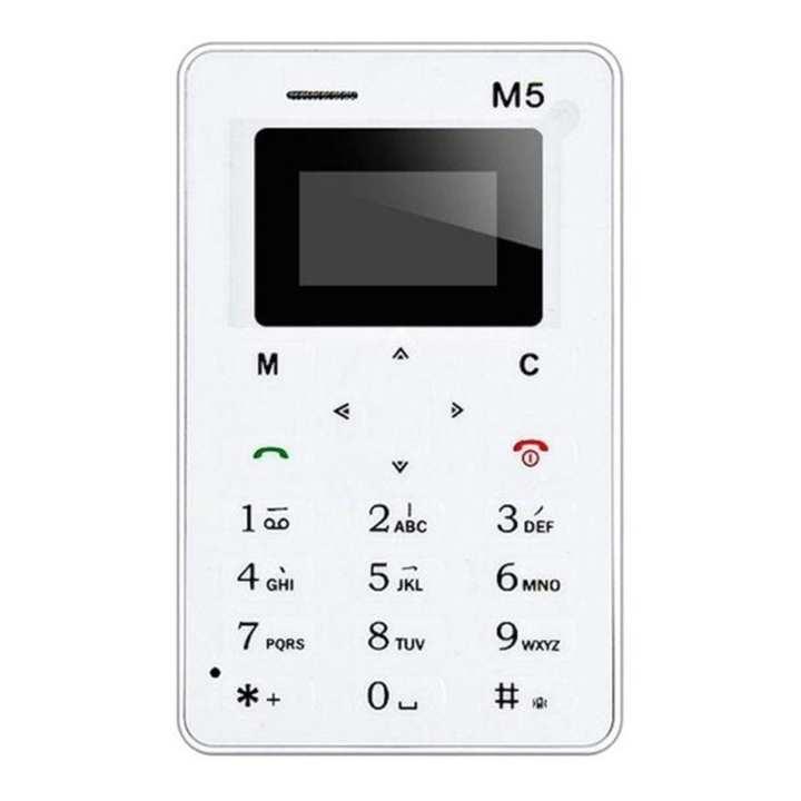 AIKU M5 Mini Card phone - White
