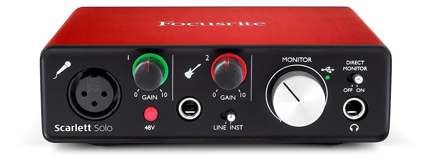 Focusrite Scarlett 2i2 (2nd Gen) USB Audio Interface with Pro Tools - Red