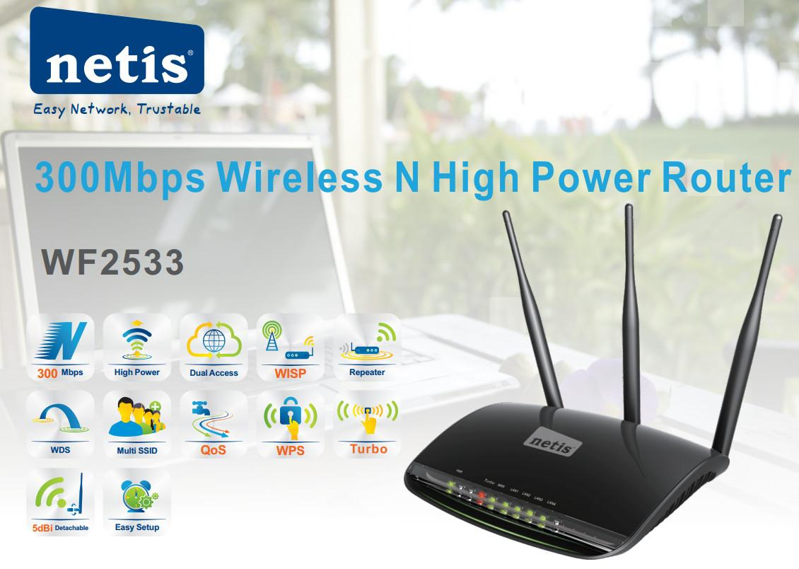 Netis Buy At Best Price In Bangladesh Wf 2419e Wireless N 300mbps Wf2533 4 Ports High Power