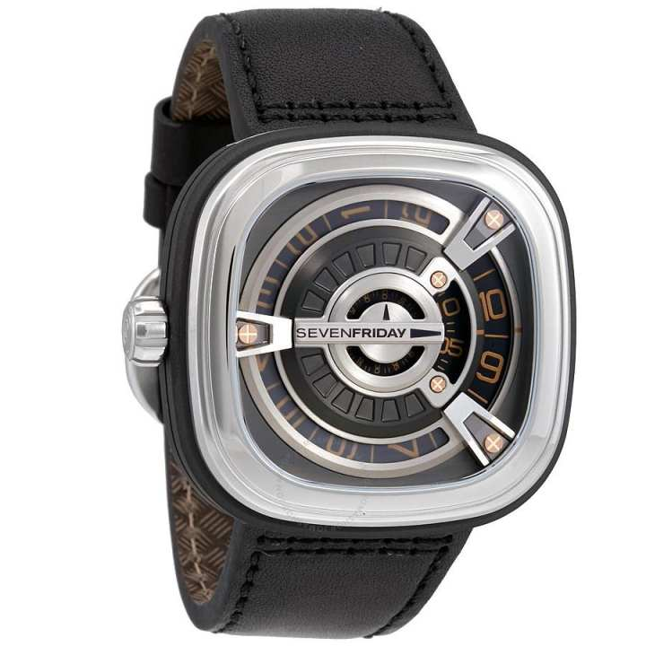 WRM184 - Leather Analog Watch For Men - Brown