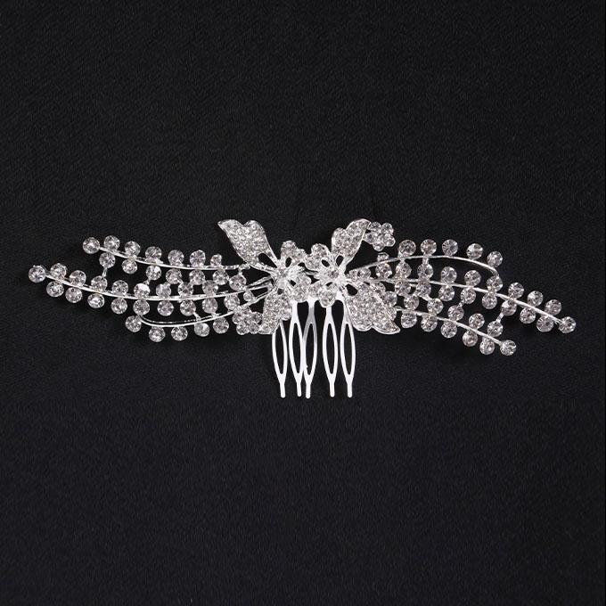 Silver Metal And Stone Hair Clip For Women