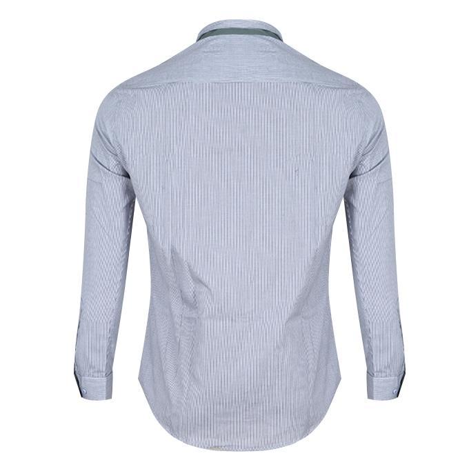 Light Gray Cotton Shirt For Men