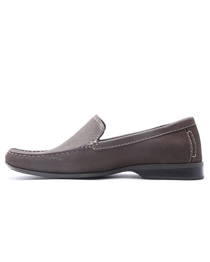 Maverick Leather Moccassin Loafer - Dark Brown