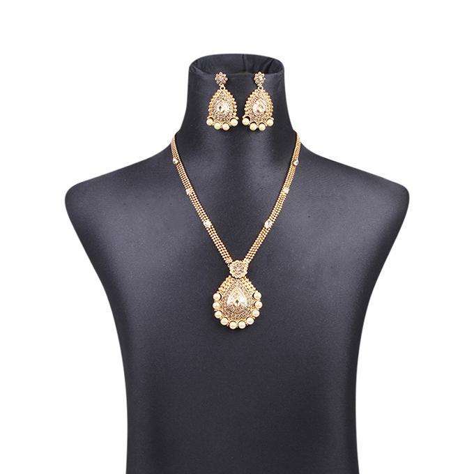 Metal Jewellery Set For Women - Golden