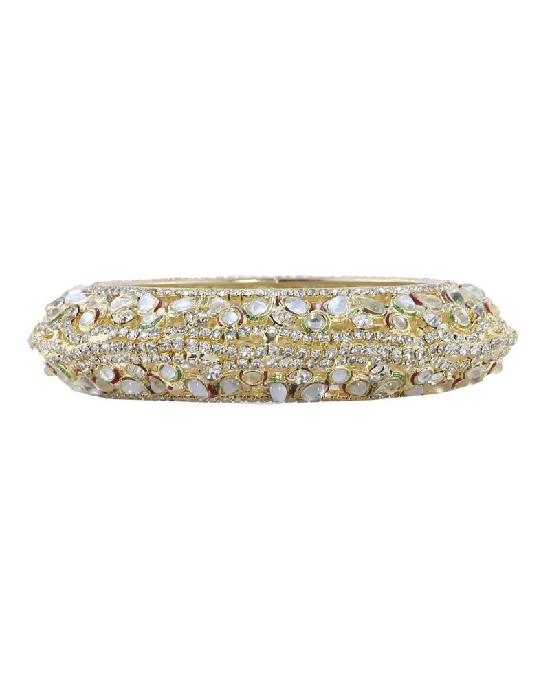 Golden Body Stone  Bangles - Multi Color