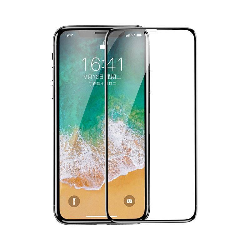 BASEUS 4D Curved 9H Tempered Glass Full Screen Protector For iPhone XS