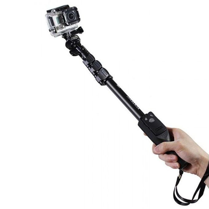YT-1288 Selfie Monopod and 228 Mini Tripod for Digital Camera or Cell Phone - Black