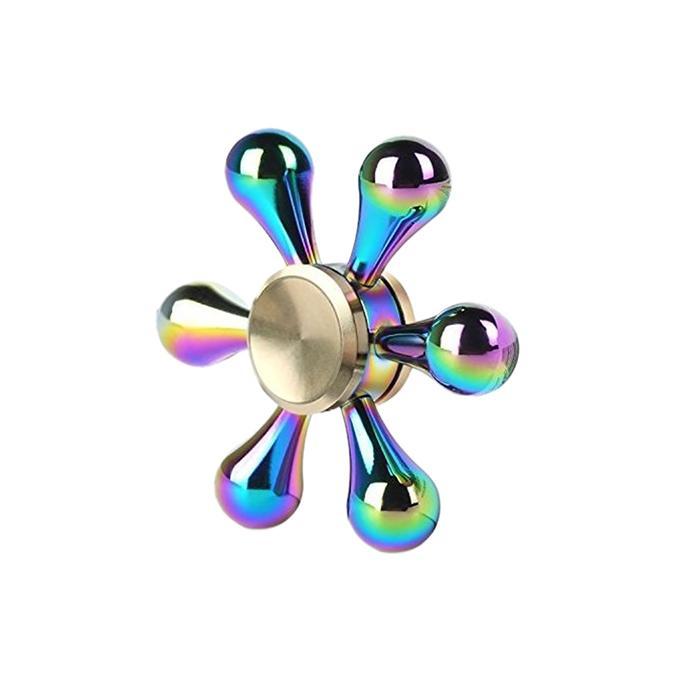 Premium Stainless Steel Bearing 6 Sided Fidget Spinner - Multi-Color