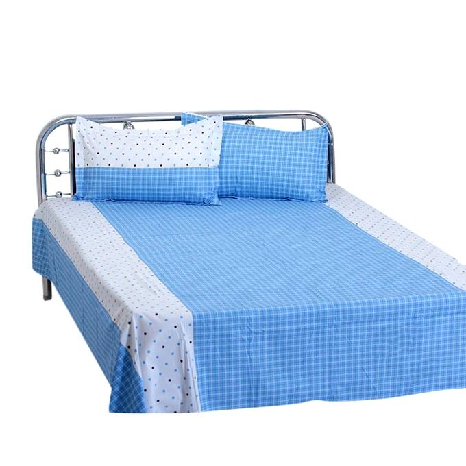 Cotton King Size Bedsheet Set - Multicolor