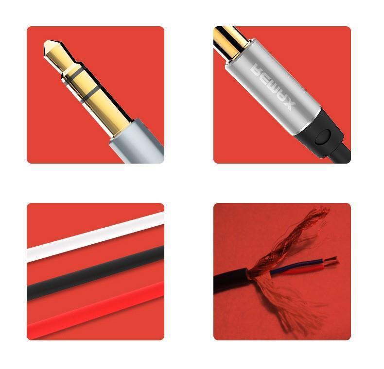 REMAX ORIGINAL 3.5 AUX AUDIO CABLE 1000MM RL-L100