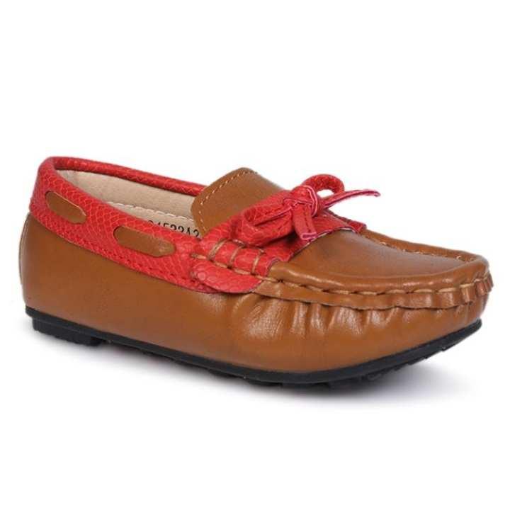 Twinkler Brown PU Sneakers for Boys - IMG_4612