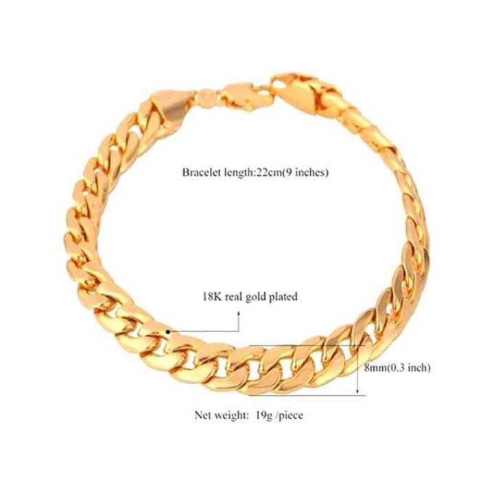 Golden Metal Bracelet For Men