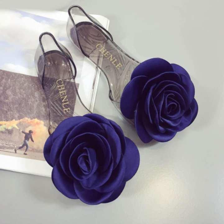 Blue PVC Flat Sandal for Women