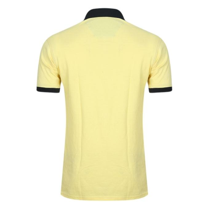 Light Yellow Cotton Polo For Men